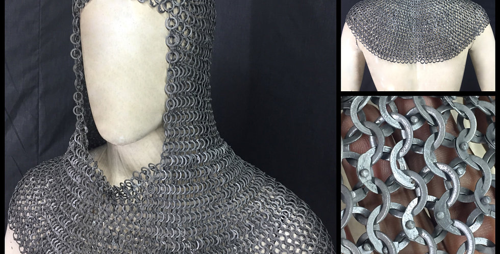 Chainmail Hood | Flat Ring Rivited with washer .