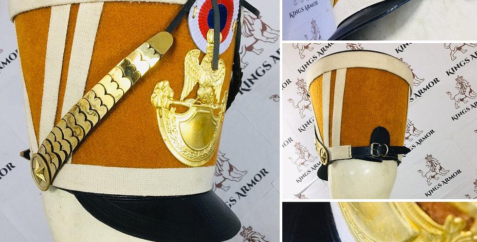 Napoleonic Shako Helmet   Brown Color   Size M to XL Adjustable