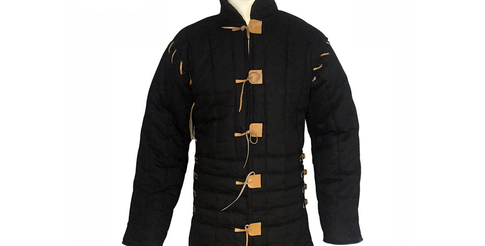 Black Color Gambeson | adjustable Sleeve