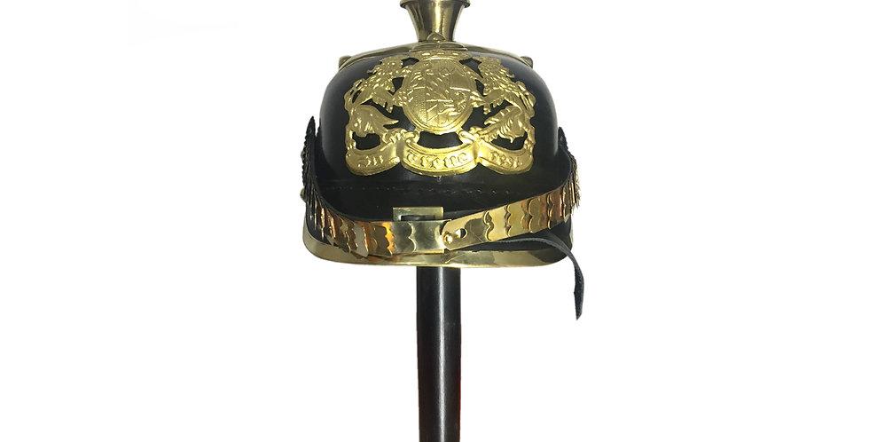 Pickelhaube Helmet | German Hat | Leather Helmet