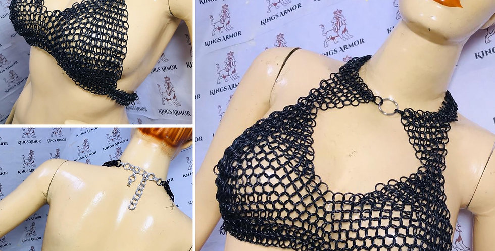 Chainmail Mesh Bra | Multiple Size | Black Finish