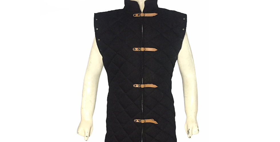 Black Color Sleeveless Gambeson