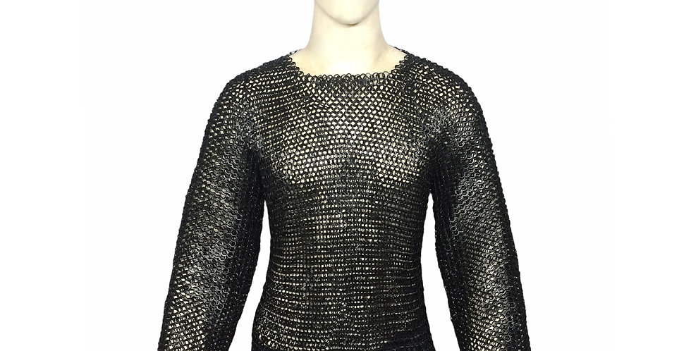 Chainmail Black Shirt | Full Sleeve | butted