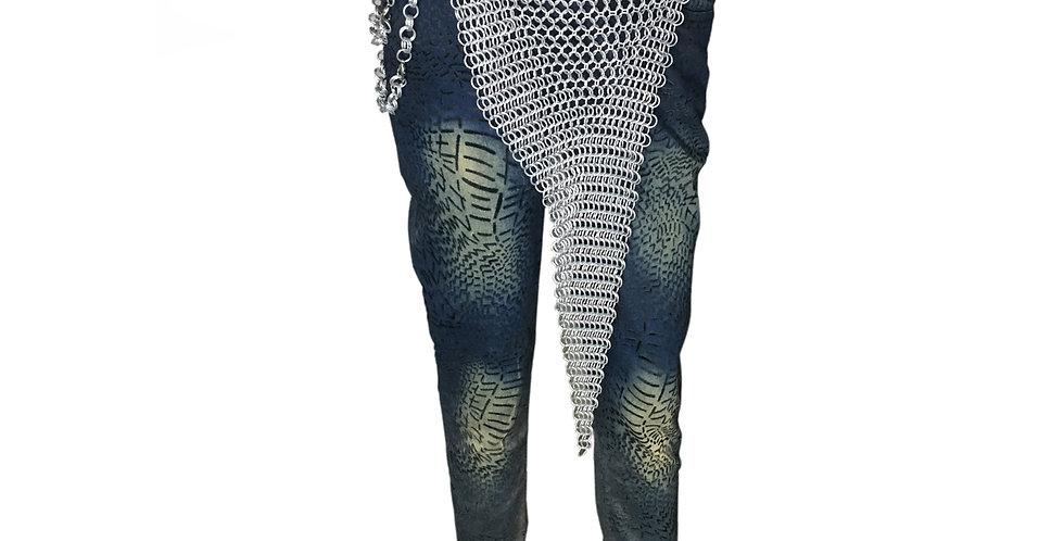 Chainmail long Design Skirt