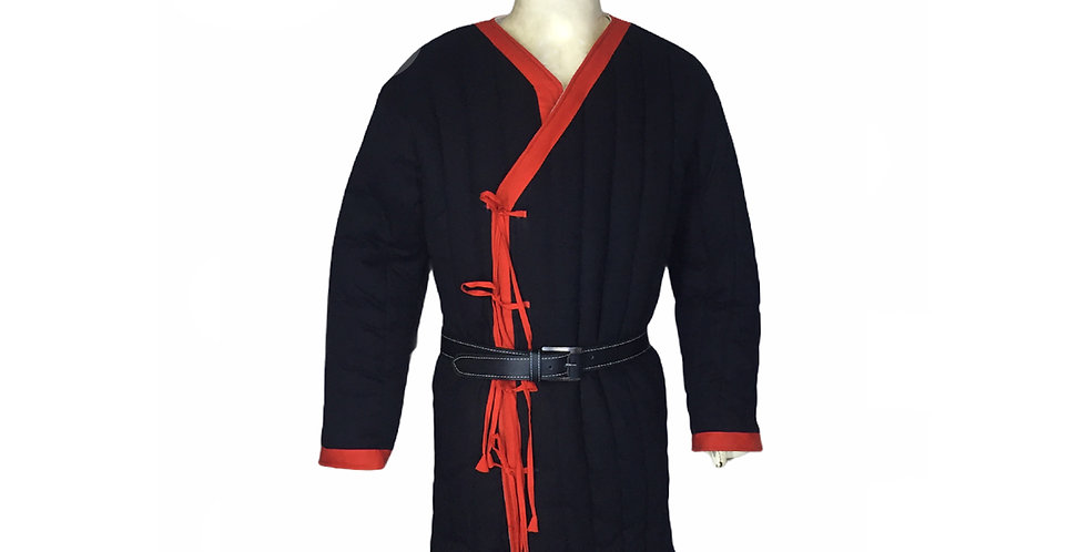 New Black Gambeson Costume With Red Border