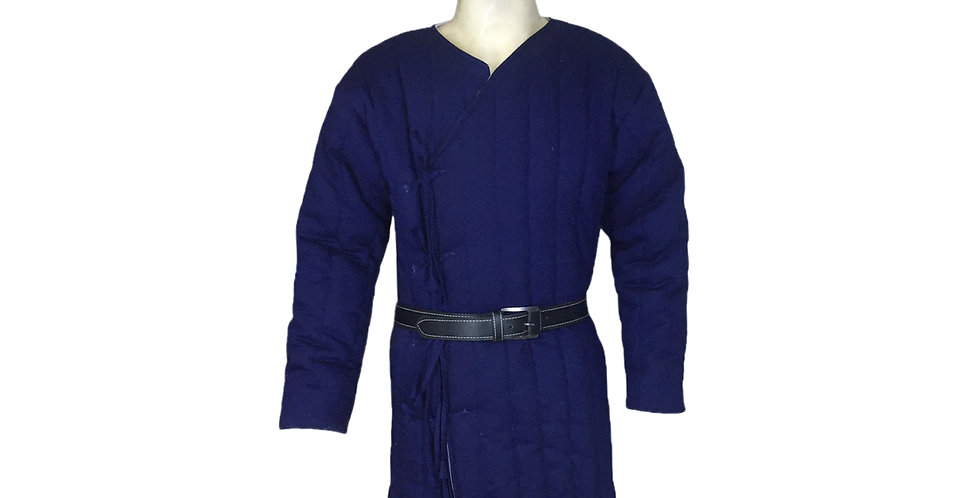 Medieval Blue Gambeson Costume