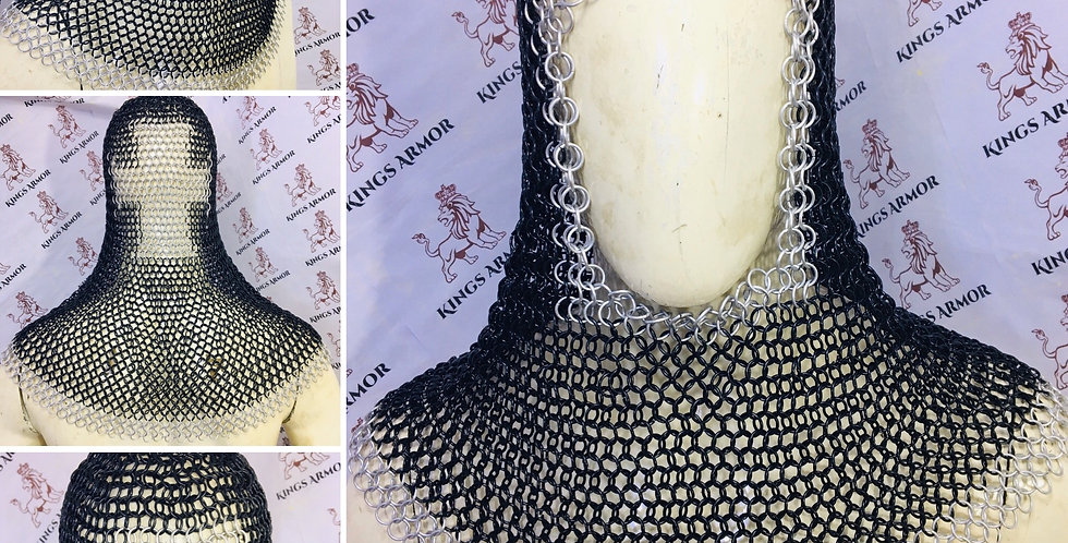 Christian Stylish Chainmail Coif | MS Budded 10mm