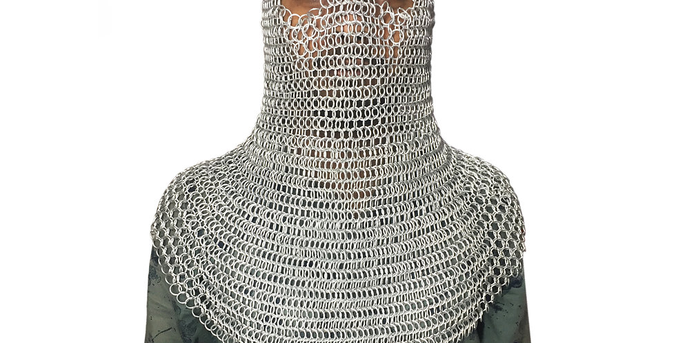 Aluminum Chainmail Butted Hood