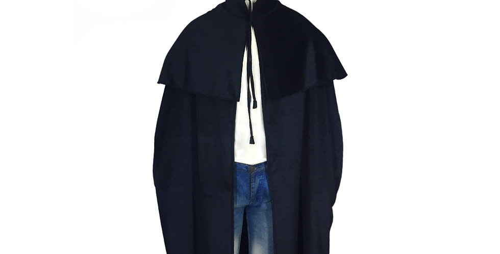 Medieval Black Royal Cloak Cosplay Costume