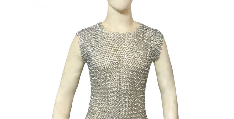 Aluminum Chainmail Sleeveless T-Shirt | 10mm | Butted
