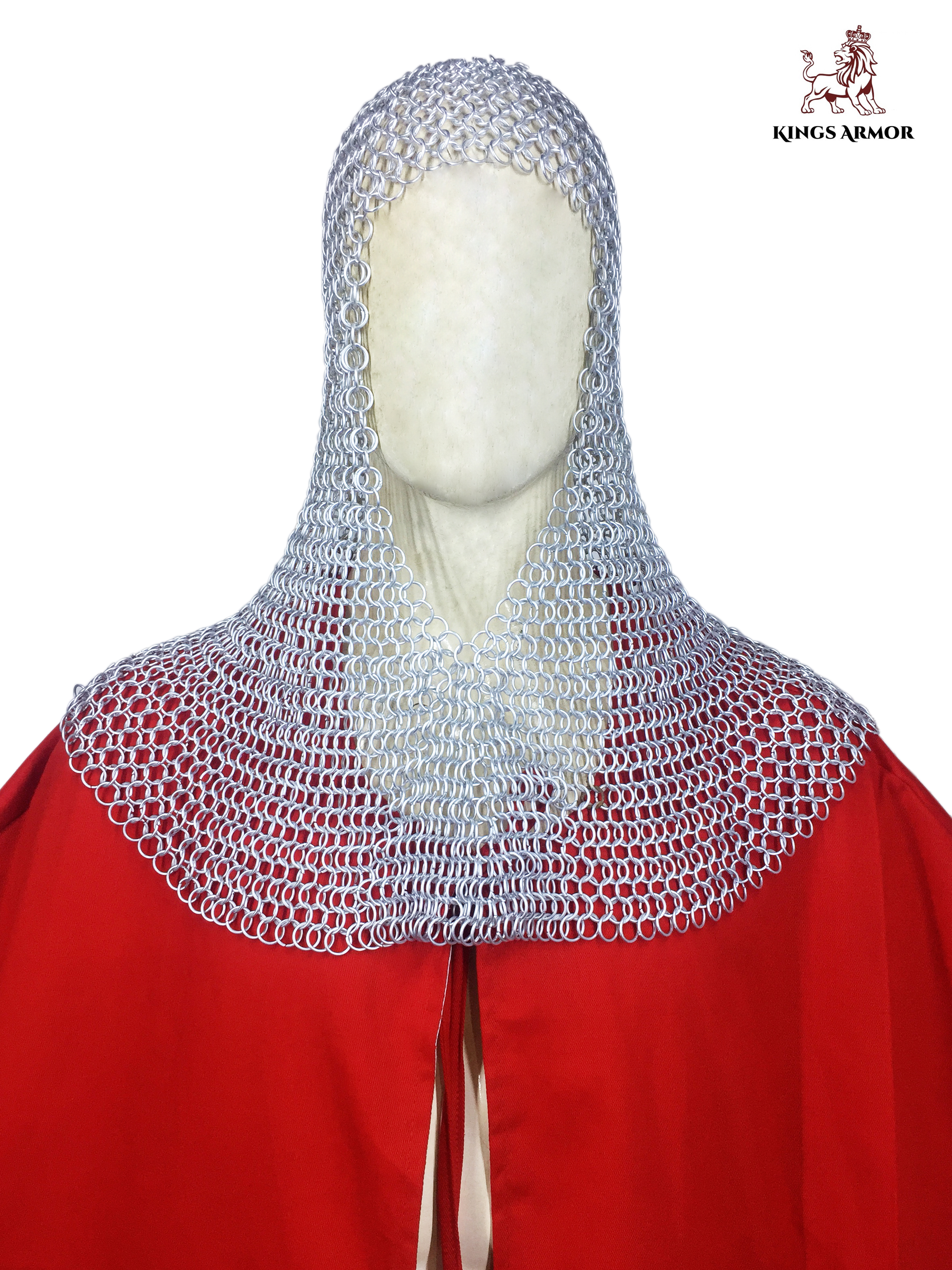 Chainmail Hood for men (front)