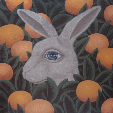 can you see me-rabbit_acrylic on canvas_