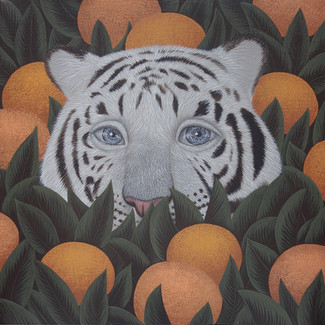 can you see me-Tiger_acrylic on canvas_2