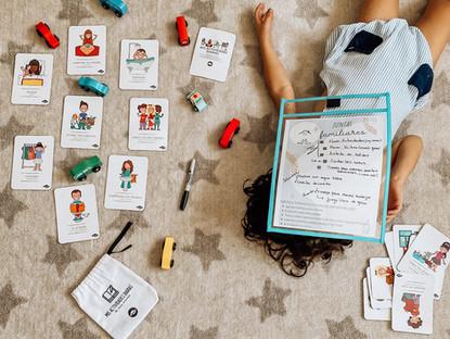 Juntas familiares y flash cards: actividades diarias