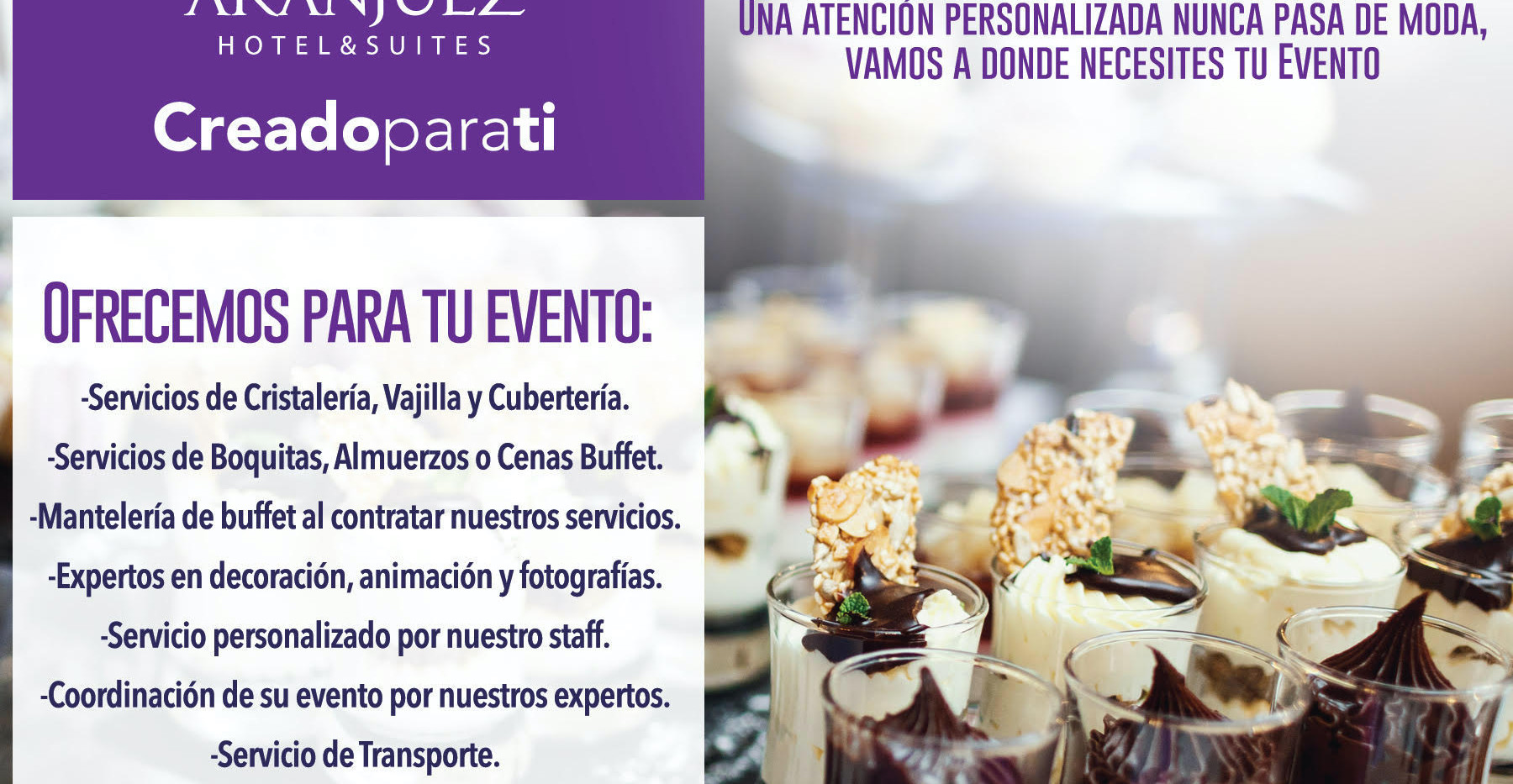 Catering and food service in David, Chiriquí