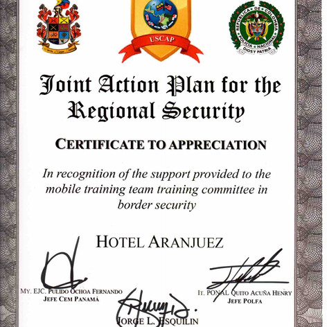Joint Action Plan for Security