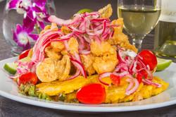 Delicias del mar como los mariscos en  Restaurante Jarama en David Chiriguí, Panamá