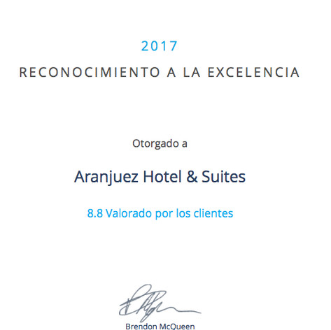 Recognition of Excellence 2017 - Detecta Hotel