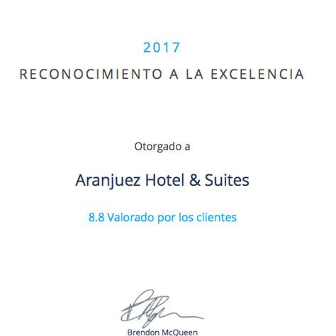 Reconocimiento a la Excelencia 2017 - Detecta Hotel