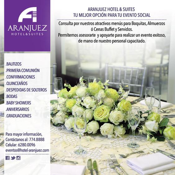 Eventos para todos en Hotel Aranjuez de la Ciudad de David