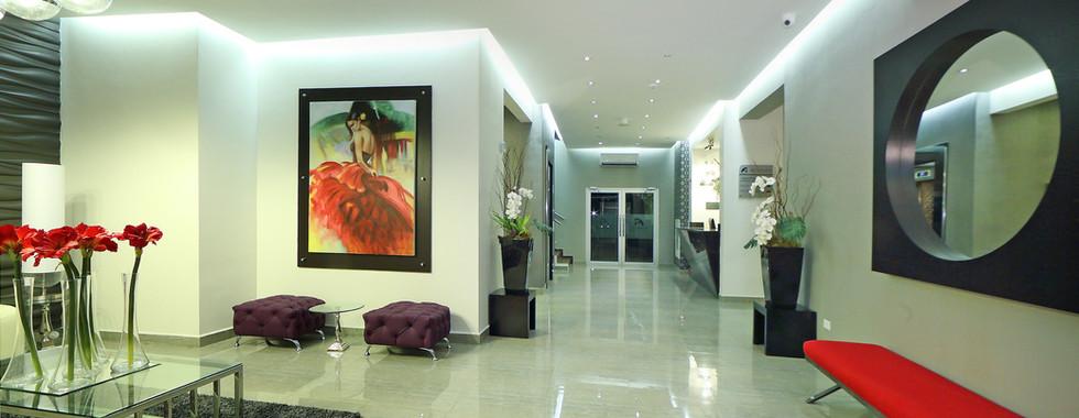 Lobby y recepción de Hotel Aranjuez