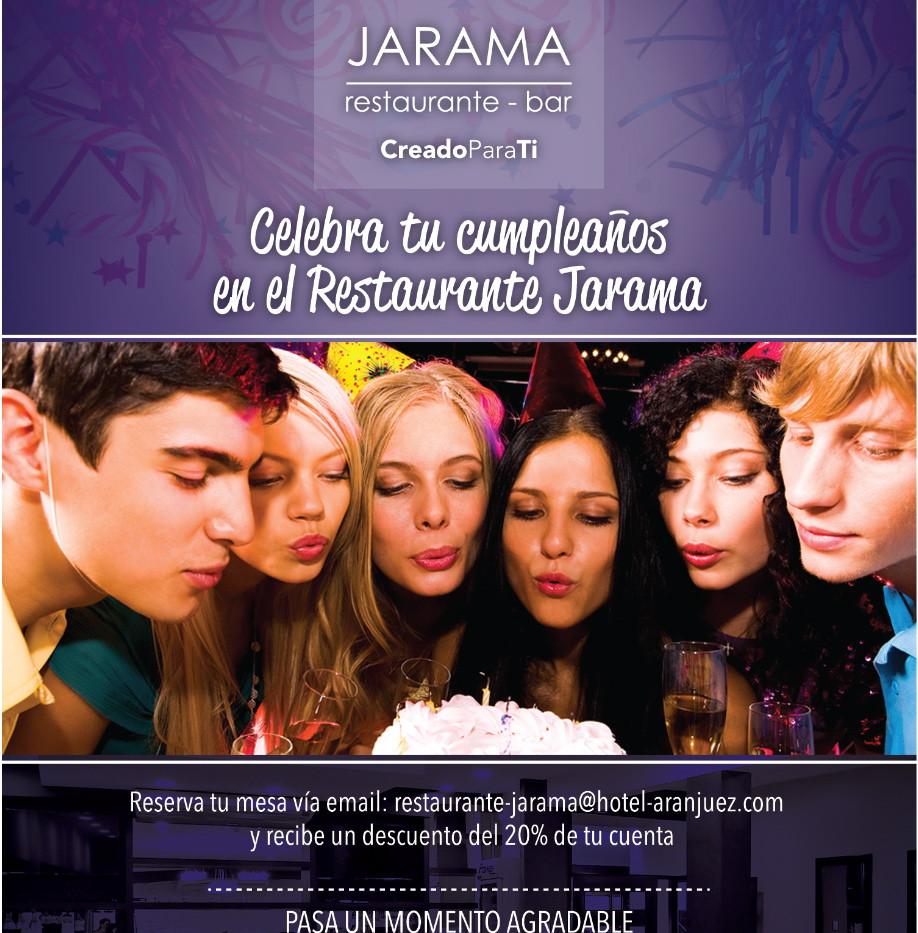 Celebra tu cumpleaños en Jarama