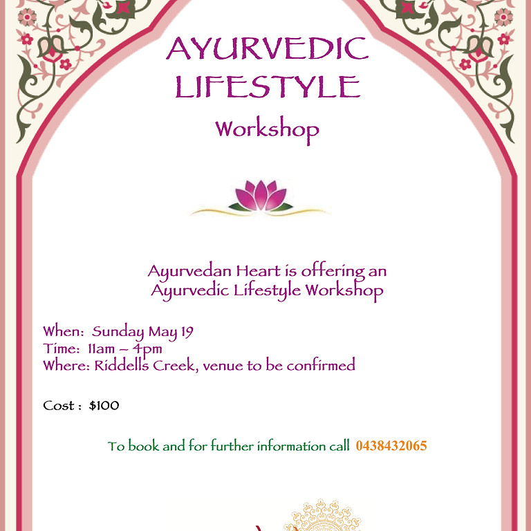 Ayurvedic Lifestyle Workshop (2)