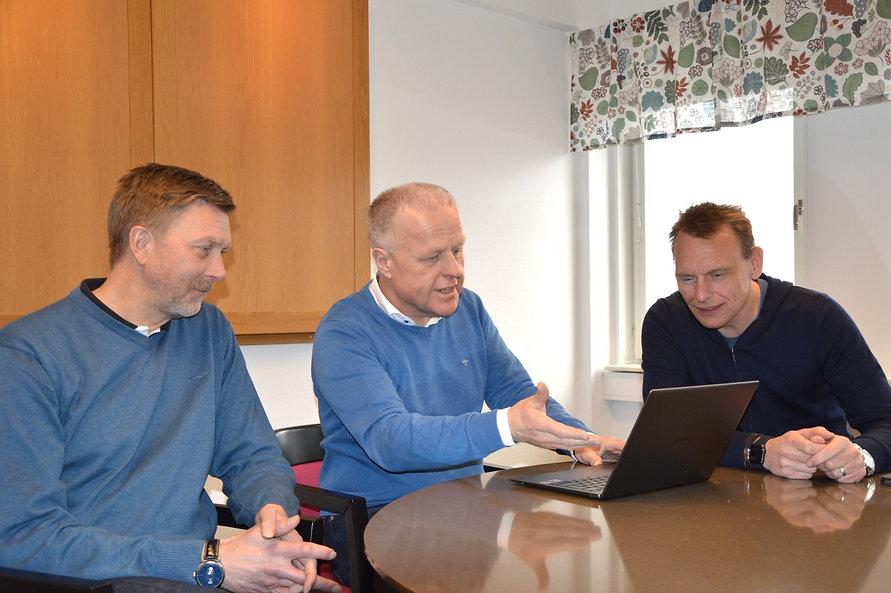 Bengt-Olof Isaksson med kunder
