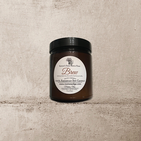 7.5oz Amber Glow Pure Soy Candle