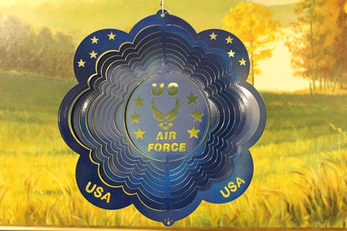 "12"" Air Force Wind Spinner - Blue Starlight"