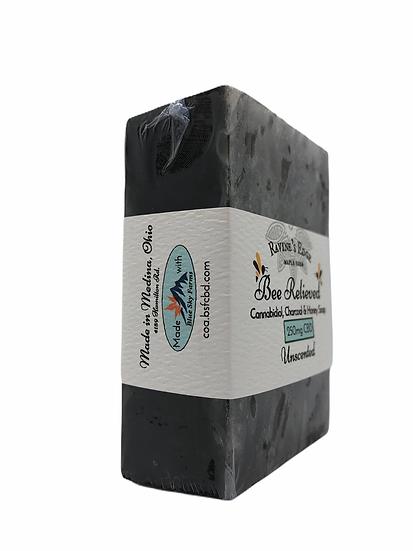 Bee Relieved Charcoal Hemp Soap Block
