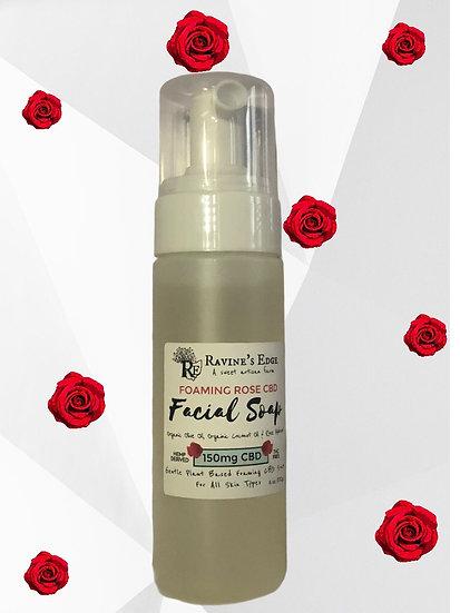 Organic Foamimg Rose Hydrosol Facial Hemp Soap