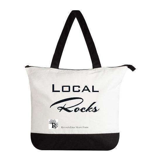 Local Rocks Cotton Zip Bag
