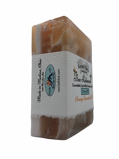 Bee Relieved Orange Hemp Soap Block