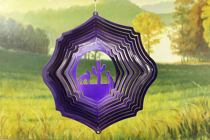 "12"" Coyote Wind Spinner - Purple"