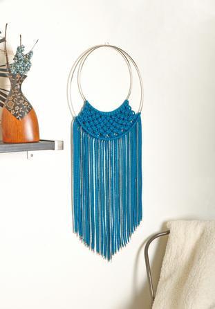 Turquoise Macrame Wall Hanging