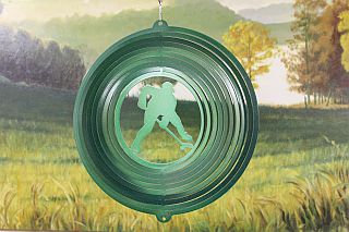 "12"" Hockey Player Wind Spinner - Green Starlight"
