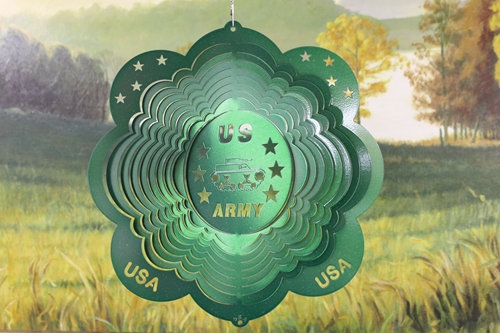 "12"" Army Wind Spinner - Green Starlight"