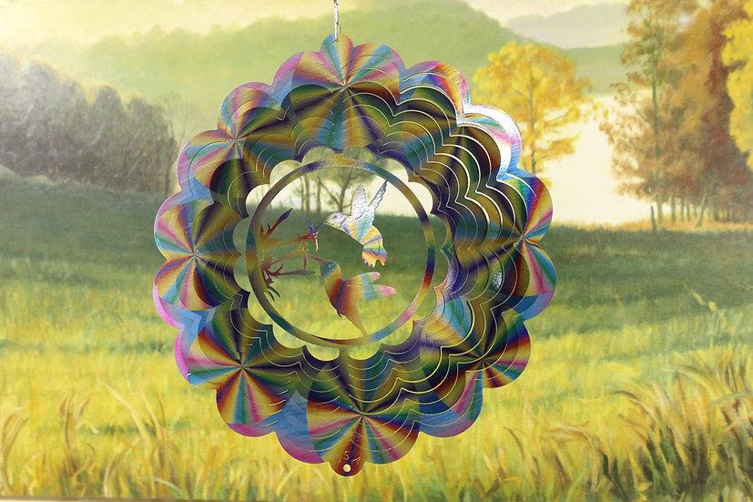 "12"" Hummingbird Double Wind Spinner - Pastel Printed"
