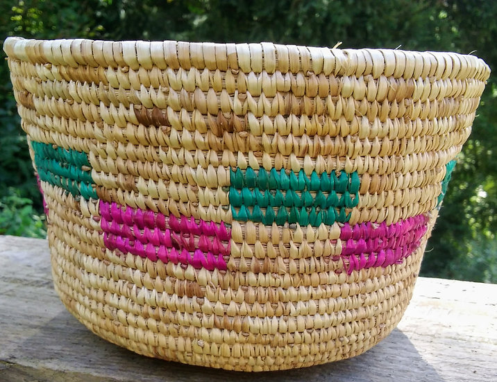 African Handwoven Reed Bowl