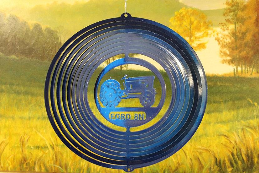 "12"" Blue Tractor 8N Wind Spinner - Blue Starlight"