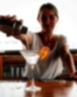 High end cocktail bartending