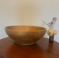 Oak- Med Sz Wood Bowl