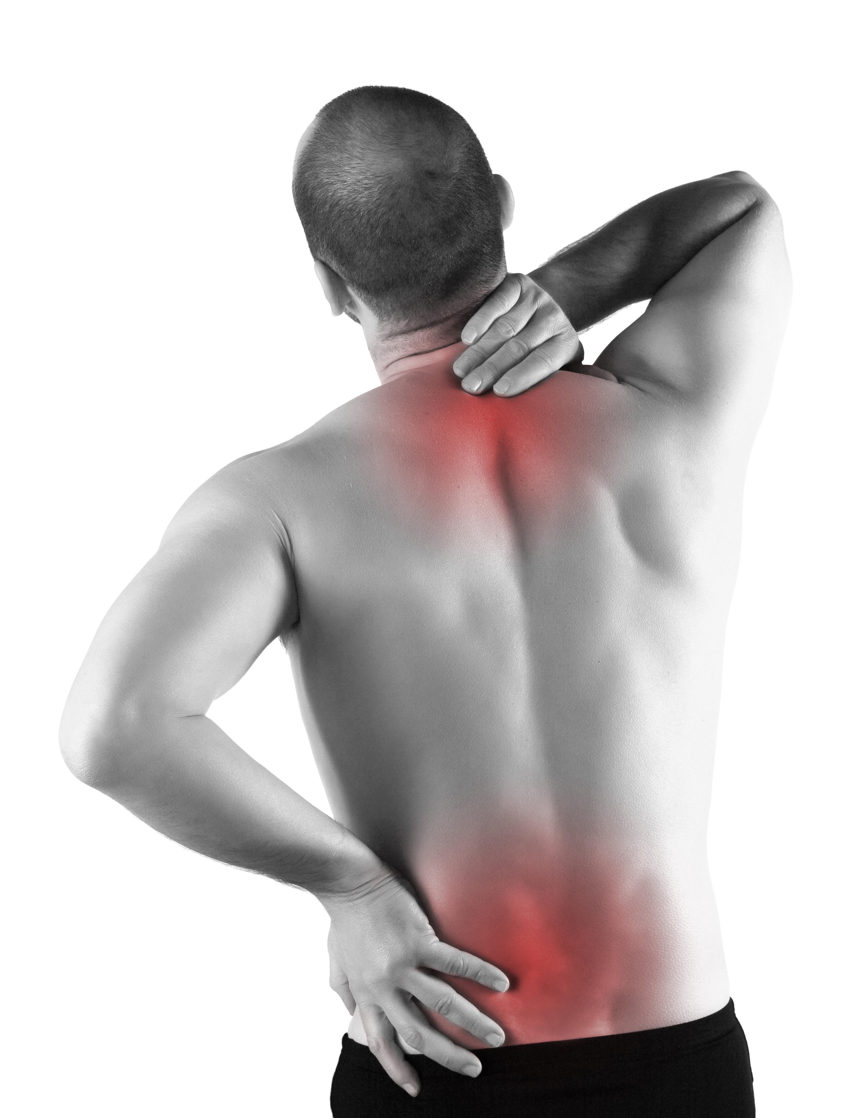 low back pain, burning, aching