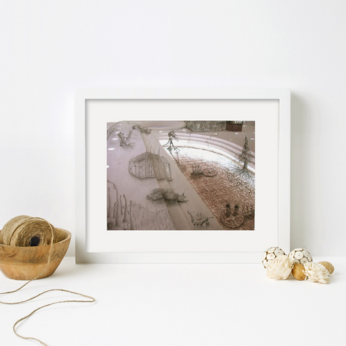 """""""swamp things"""" by Heather Cosidetto from """"The Grass is Always Greener on the Flipside"""" series (framed mock-up)"""