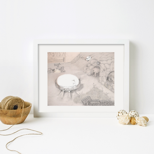"""""""zooland"""" (framed art print from the Flipside series)"""