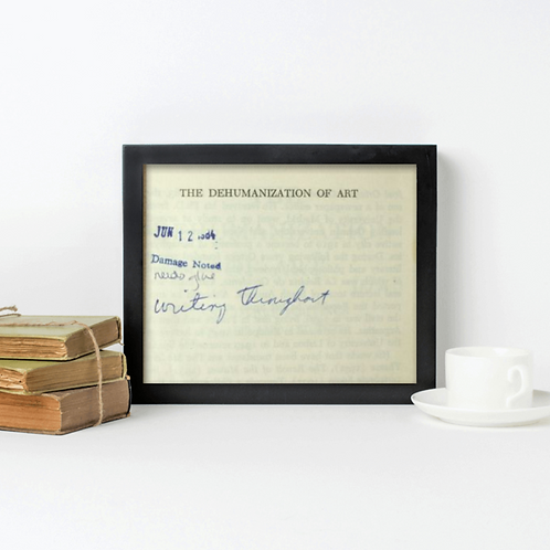 """""""Damage Noted, Writing Throughout"""" by Heather Cosidetto (framed mock-up)"""