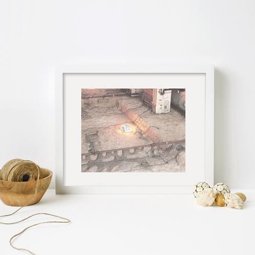 """glowbox"" (framed art print from the Flipside series)"