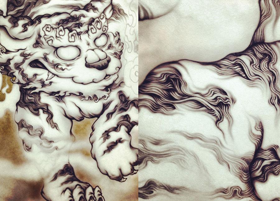 四神獣:白虎図