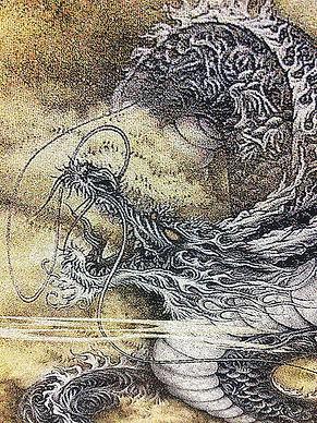 龍の絵 絵獅匡 eshimasa 西陣織 龍